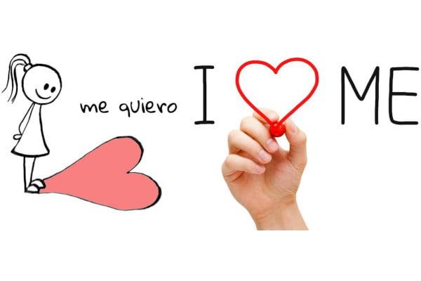 """Mejora tu autoestima. Imagen con corazones, mensaje """"me quiero"""""""